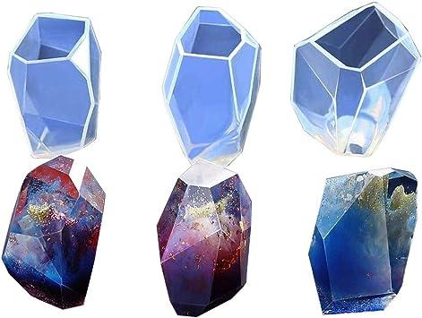Ddfly DIY moldes geom/étricos de resina de resina epoxi de silicona para manualidades resina epoxi decoraci/ón del hogar vela//jab/ón//joyer/ía