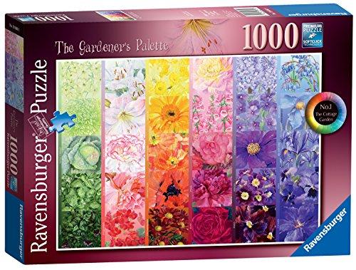Ravensburger The Gardener's Palette No.1 - Cottage Garden, 1000pc Jigsaw Puzzle Cottage 1000pc Jigsaw Puzzle