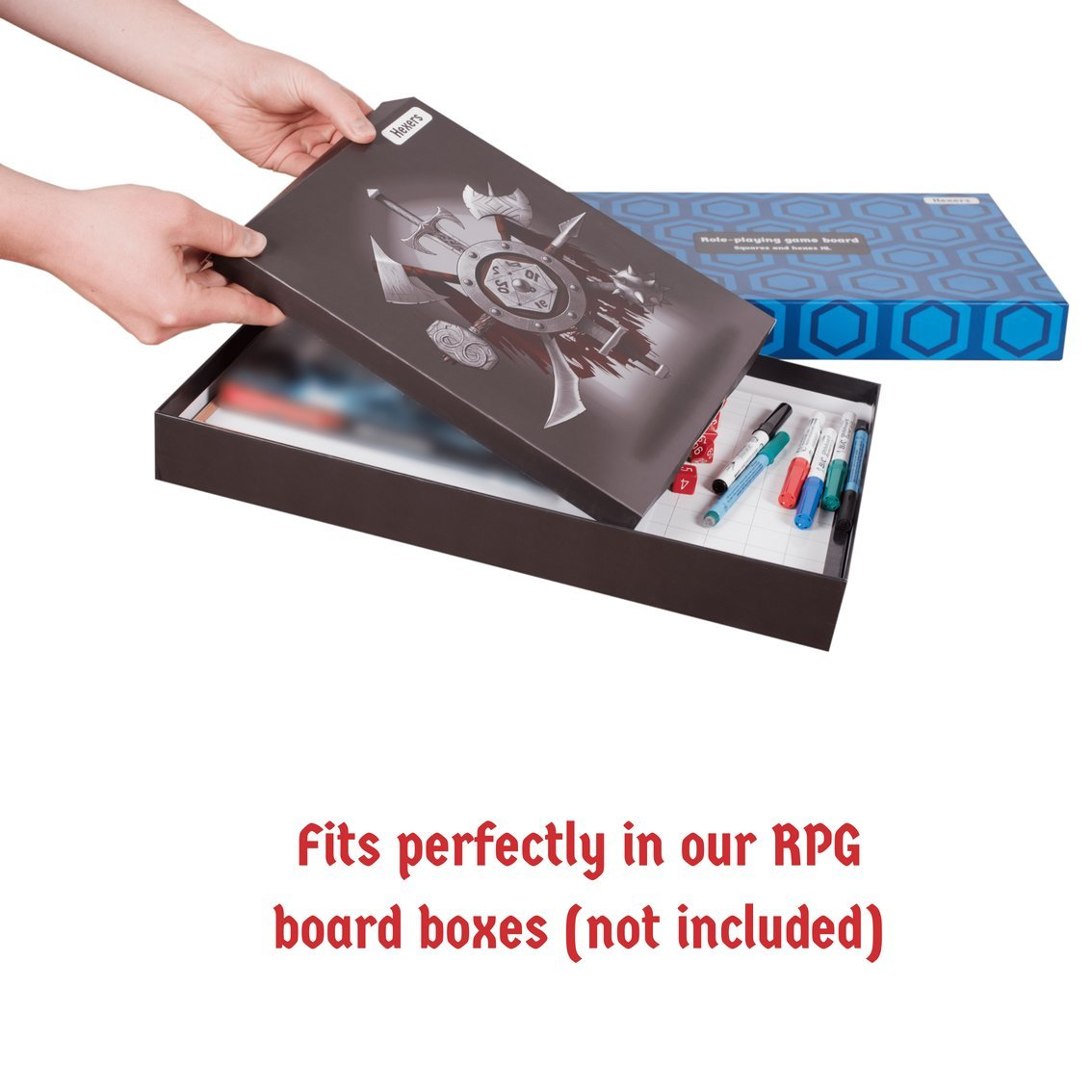 Hexers Game Master Screen - Dungeons and Dragons D&D DND DM Pathfinder RPG Role Playing Compatible - 4 Customizable Panels - Inserts Included That Slide into The Pouches - Dry Erase Tracker Sheet by Hexers (Image #7)
