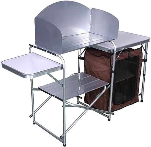 Mesa de camping Mesa plegable de aleación de aluminio acampar al ...