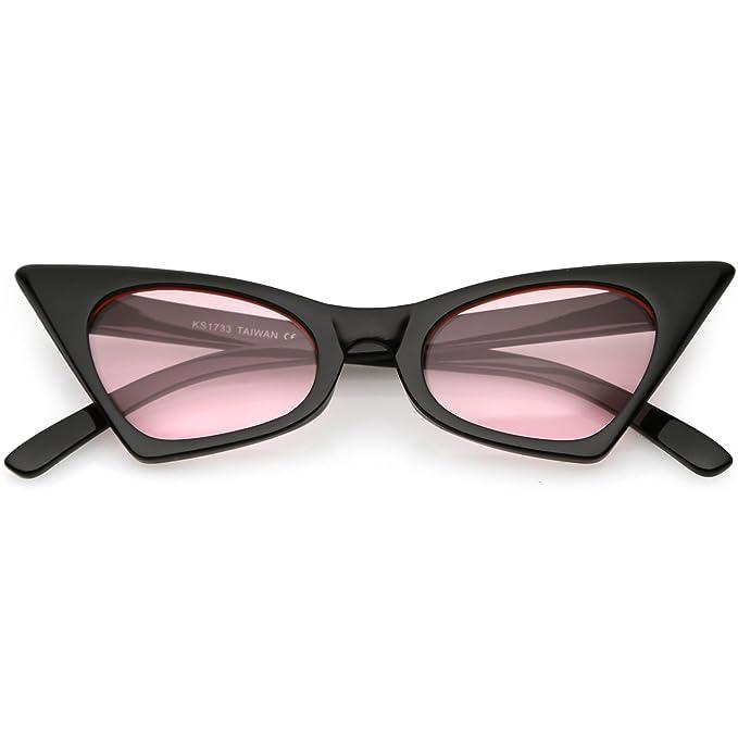 Amazon.com: sunglassla – Retro pequeña alta punta ojo de ...