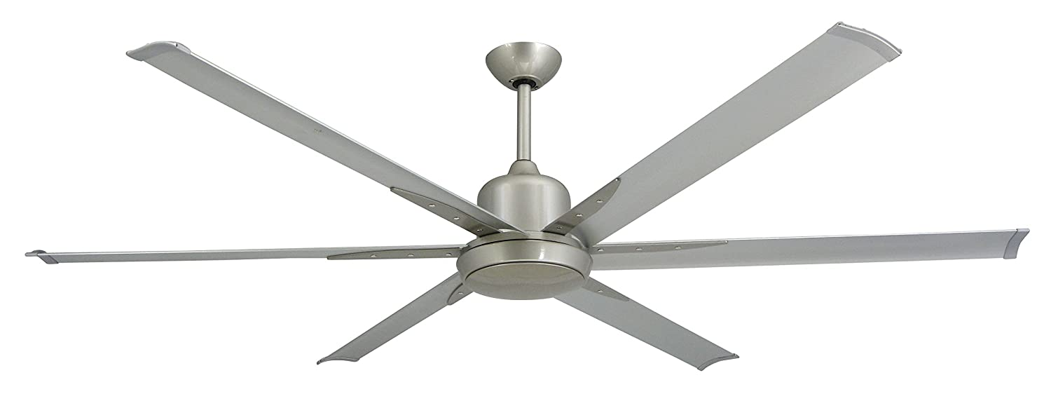 Troposair titan brushed nickel large industrial ceiling fan with dc troposair titan brushed nickel large industrial ceiling fan with dc motor 72 extruded aluminum blades integrated light and remote amazon aloadofball