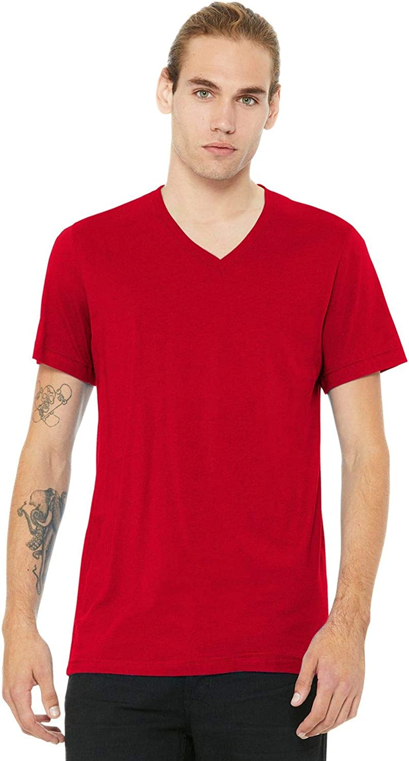 Bella Canvas 3005U Unisex Made in The USA Jersey Short-Sleeve V-Neck T-Shirt