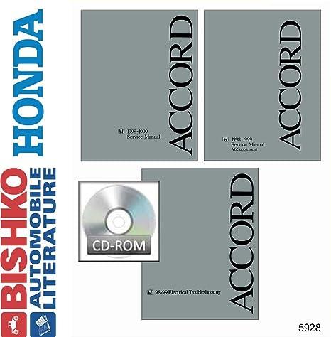 OEM Repair Maintenance Shop Manual CD Honda Accord w//Etm /& V6 Supp 1998-1999