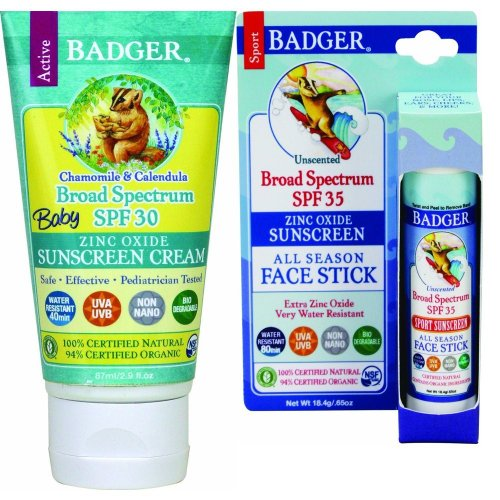 Badger Watch - Badger Baby Sunscreen SPF 30+ and Face Stick