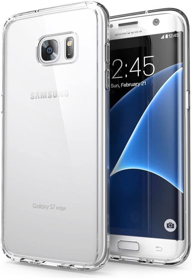 Orlegol Funda Galaxy S7 Edge, Cristal Carcasa Samsung S7 Edge Funda Silicona TPU Bumper Case Anti-rasguños Suave Funda para Samsung Galaxy S7 Edge Case Cover: Amazon.es: Electrónica