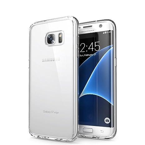 Orlegol Funda Galaxy S7 Edge, Cristal Carcasa Samsung S7 Edge Funda Silicona TPU Bumper Case Anti-rasguños Suave Funda para Samsung Galaxy S7 Edge ...