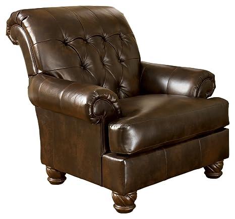 Pleasant Signature Design By Ashley Fresco Accent Chair Antique Brown Evergreenethics Interior Chair Design Evergreenethicsorg