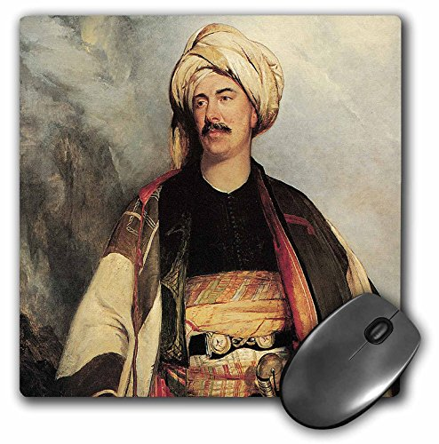 3dRose BLN Middle Eastern and Northern African Fine Art Collection - David Roberts Esq. in the Dress in Wore in Palestine by Robert Scott Lauder - MousePad ()