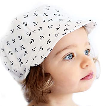 71e91f5f6c369 Amazon.com  Toddler newsboy cap for spring summer fall - adjustable 50+ UPF  sun hat(M  9m - 3Y