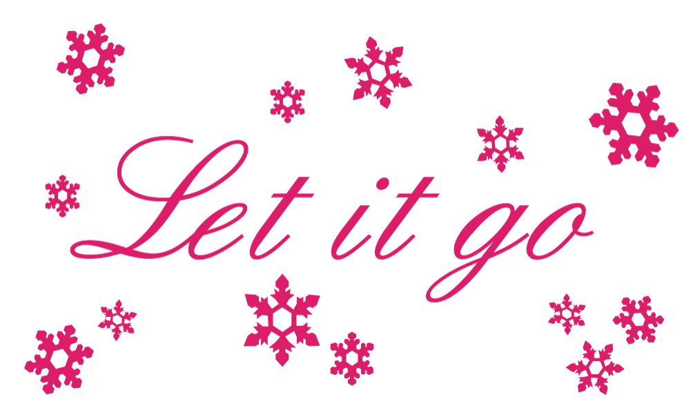 Let it go Wall Quote & Snowflake Decal Set from Frozen Movie Small