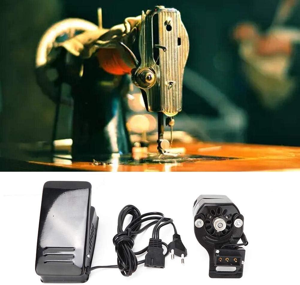 100W Máquina de coser Motor Pedal de coser Variable Controlador de velocidad Máquina de coser Interruptor de pie Piezas de la máquina de coser doméstica Con la máquina (UE)