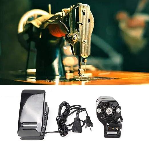 100W Máquina de coser Motor Pedal de coser Variable Controlador de velocidad Máquina de coser Interruptor de pie Piezas de la máquina de coser doméstica Con la máquina (UE): Amazon.es: Hogar