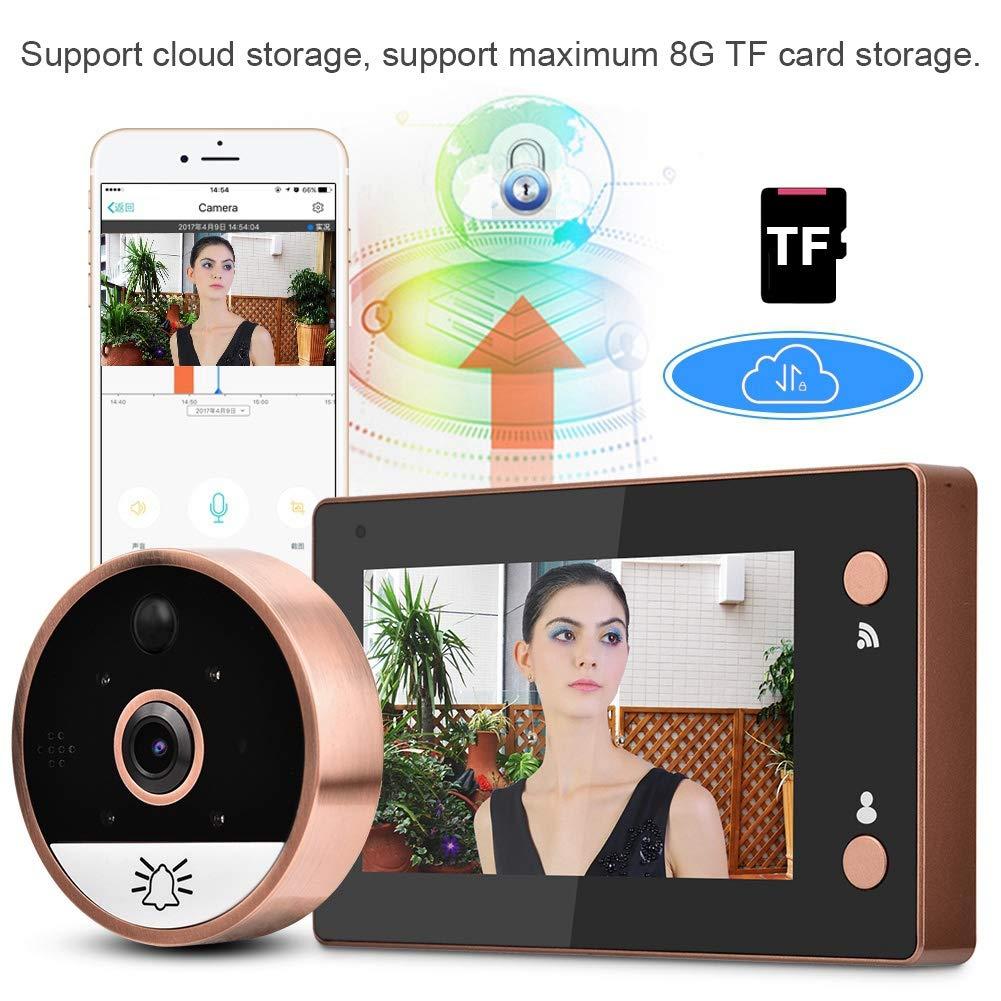 WiFi Smart Video Doorbell 4.3in 720P HD WIFI Cat Eye Camera Peephole Viewer Monitor Video Door Phone Kit IR Night Vision Motion Detection by Sonew (Image #9)