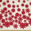 Moda Winter's Lane Poinsettias Snow Fabric By The YD