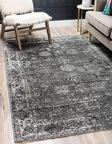 Unique Loom 3134056 Sofia Collection Traditional Vintage Beige Area Rug, 5' 0 x 8' 0 Rectangle, Dark Gray (Rugs Home Carpet Indoor Depot Outdoor)