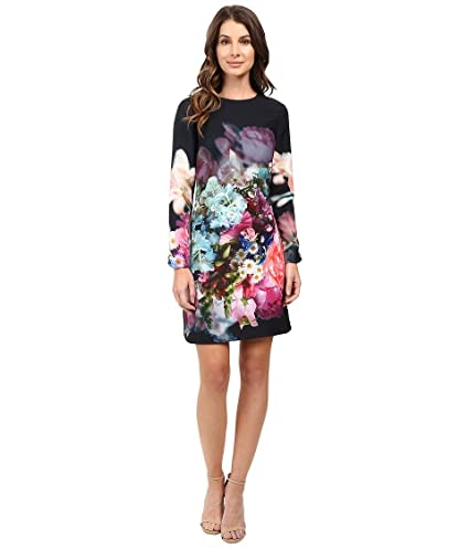 fd73bf932a836 Ted Baker Women s Vyra Focus Bouquet Long Sleeve Tunic Dark Blue Dress 2  (US 6)  Amazon.ca  Clothing   Accessories