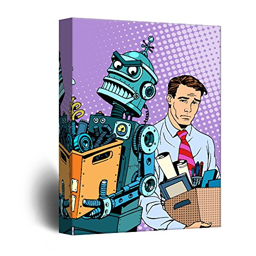 Robot Takeover Propaganda Comic Illustration Pop Art