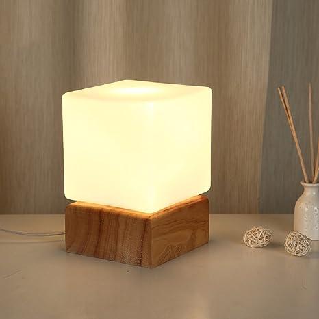 Creativo Madera sólida Lámparas de mesa,Dormitorio Lámpara ...