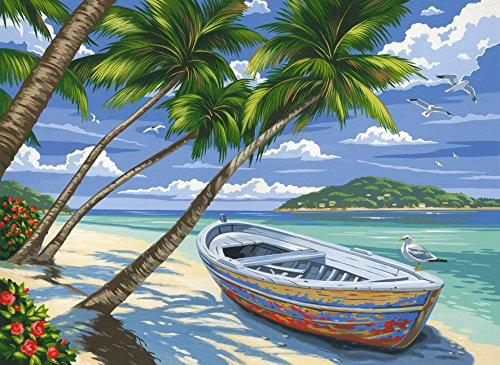 Tropical Beach Acrylic Painting by Numbers kit