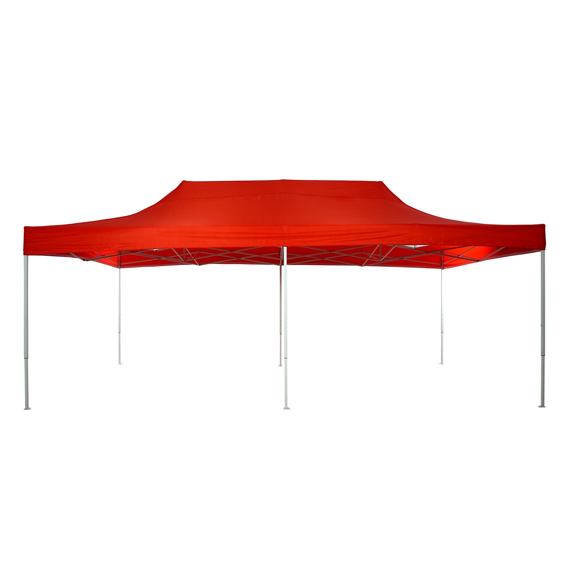 Patio Commercial Canopy White Steel Frame Heavy Duty Pop Up Party Festival Instant Shelter Canopy (10 x 20 Feet, Red)