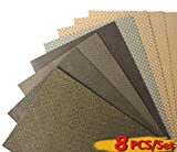 Z-Lion Diamond Abrasive Paper Sheets Diamond Sandpaper for Grinding Stone Glass Ceramic Diamond Tool(8pcs/set)