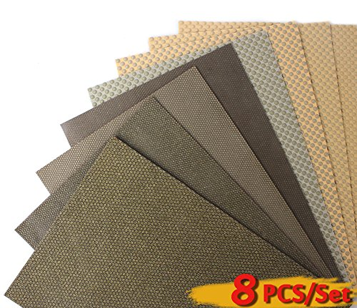 Z-Lion Diamond Abrasive Paper Sheets Diamond Sandpaper for Grinding Stone Glass Ceramic Diamond Tool(8pcs/set) by Z-LION
