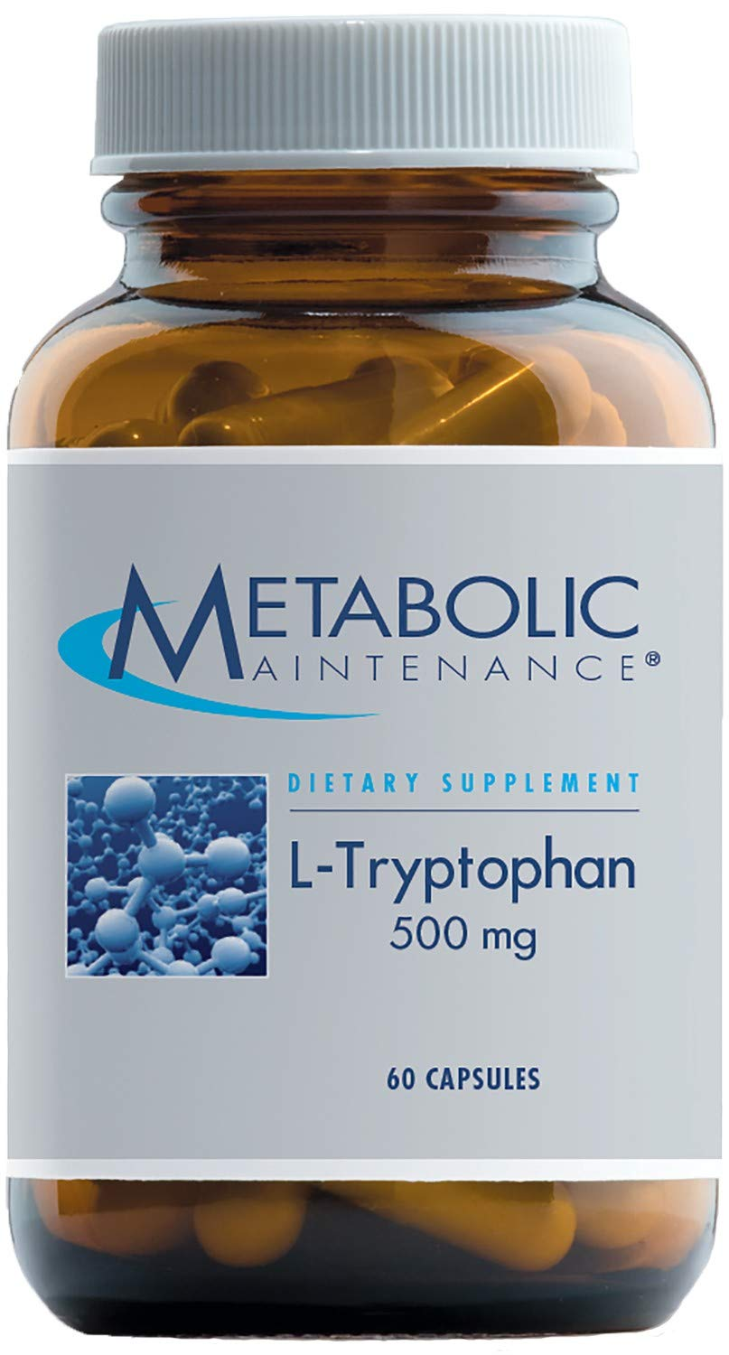 Metabolic Maintenance - L-Tryptophan - 500 mg, Mood + Restful Sleep Support, 60 Capsules