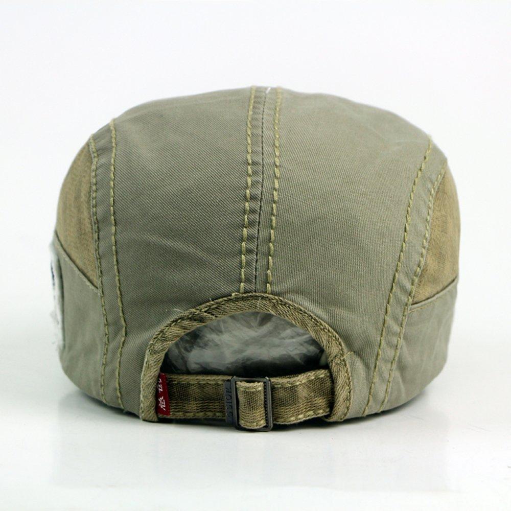 FOOKREN Mens Cotton Ivy Cap Newsboy Cabbie Gatsby Flat Hat 5 Color 55-60cm