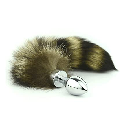 1a7bddd9414 Amazon.com  Fruanbraoo Sex Shop Faux Fox Tail Silver Anal Plug Stainless  Steel Butt Plug Cat Tail Anal Plug Cosplay Anal Sex Toys Metal Butt Plug  Dog Tail  ...