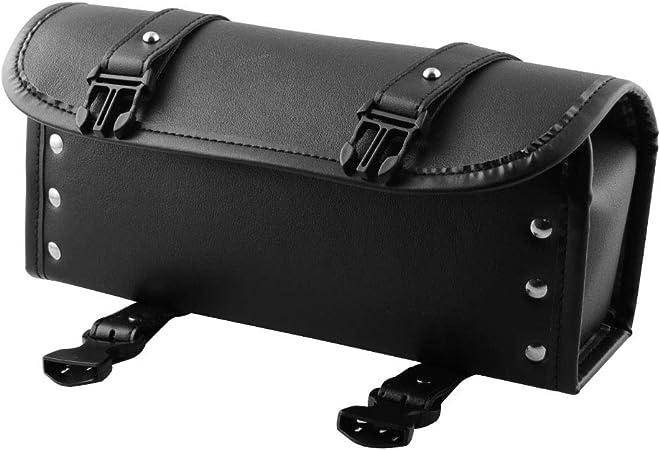 Black Sacoche /à Bagages Sac /à Fourche Avant de Moto Grande Capacit/é Universelle Sac de Guidon de Moto Outil de Rangement de Bagages