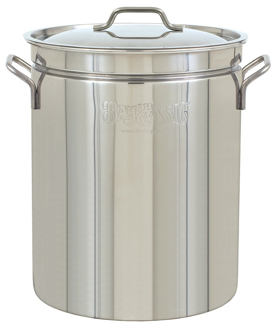 Bayou Classic 1036, 36-Qt. Stainless Fryer/Steamer with Vented Lid