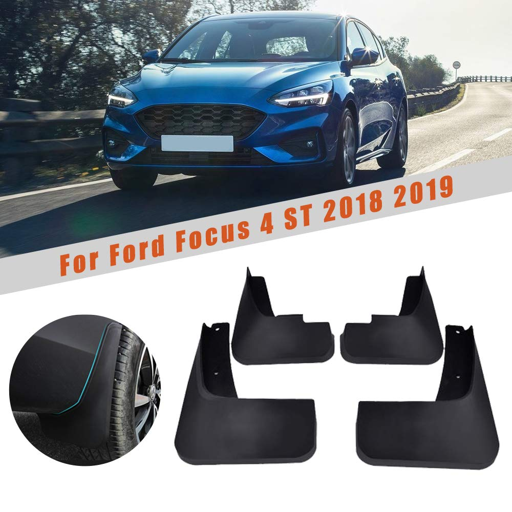 Cobear 4X Parafanghi Auto Anteriore e Posteriore Paraspruzzi per F ORD Focus MK4 ST 2018 2019 Guardie Splash Styling Auto e carrozzeria Nero