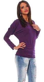 Mississhop 153 Damen Gepunktete Bluse Hemd mit Punkte Muster Langarm ... 4dfa7afbeb