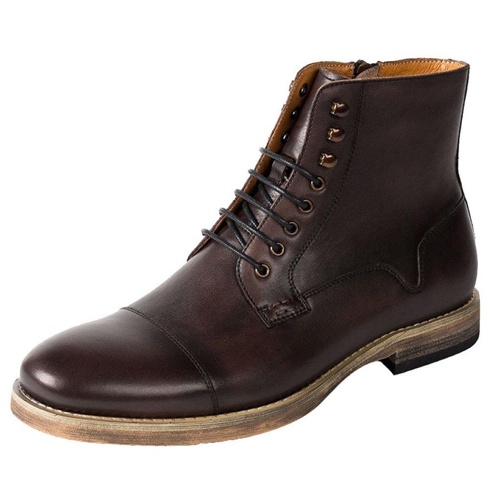 ZPJSZ Männer Vier Jahreszeiten Martin Stiefel England Mode Reißverschlüsse Lässig Jugend Spitze Lederstiefel