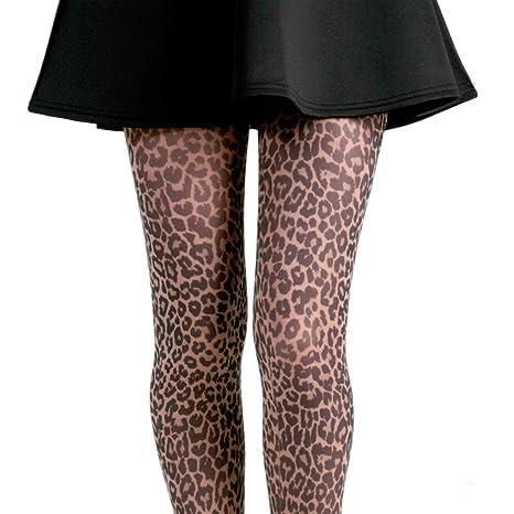 70 DEN Leoparden-Strumpfhosen f/ür Erwachsene Widmann 4755P