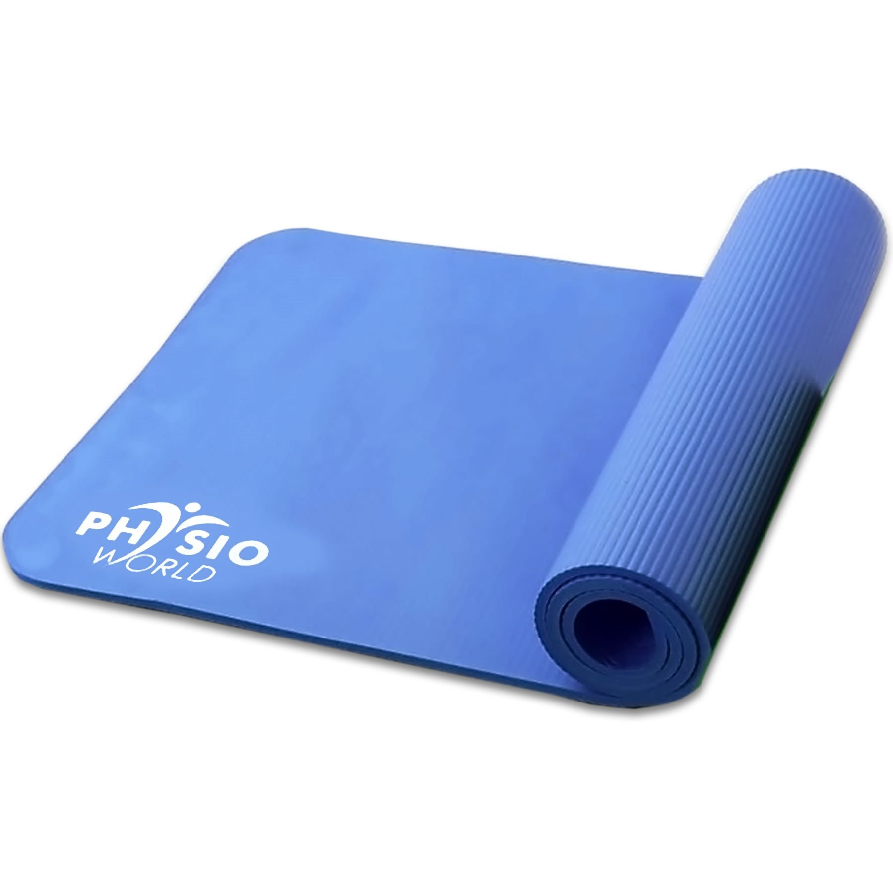 Physio World Thick Exercise Mat - 15mm Blue by phy (Image #1)