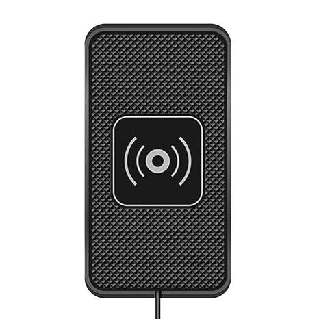 Zinniaya C3 Cargador inalámbrico para el Coche Estera de Silicona Antideslizante Base de Carga Pad Cargador de teléfono móvil Universal para ...