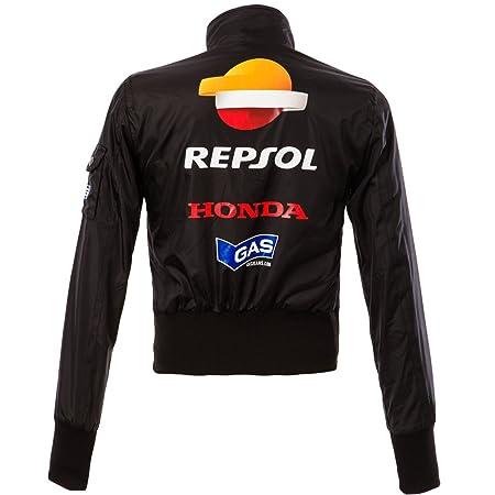 Oficial Honda Gas Repsol Team Moto GP mujer al viento chaqueta negro: Amazon.es: Deportes y aire libre