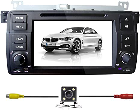 BMW E46 DOUBLE DIN CAR STEREO RADIO DASH KIT STEERING WHEEL CONTROL INTERFACE