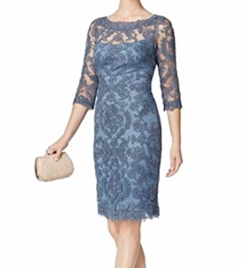 36dc91f5cb5 Image Unavailable. Image not available for. Color  Tadashi Shoji Women s  Embroidered Lace Sheath Dress