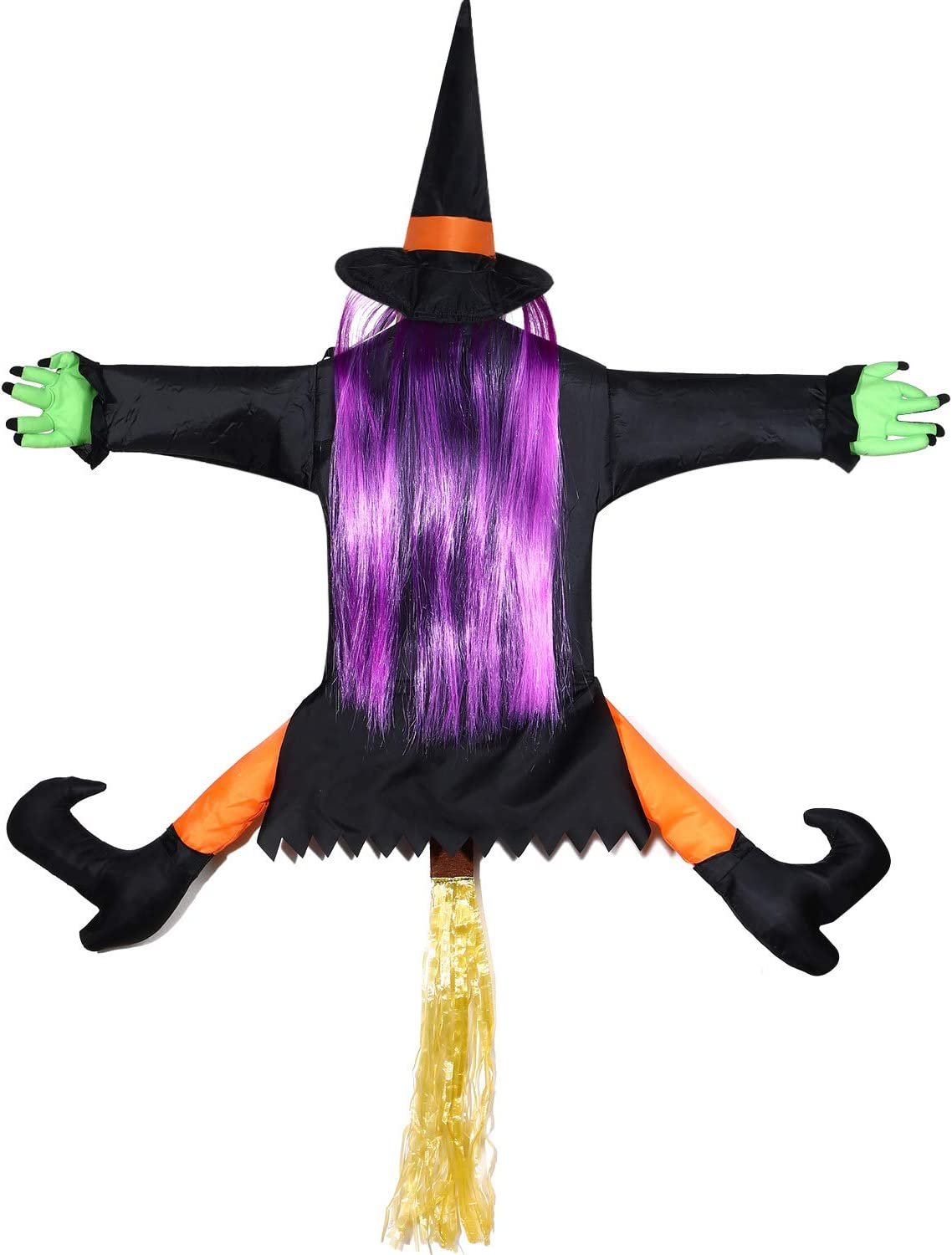 Halloween Crashed Witch 3D Door Decoration with Stuffable Legs