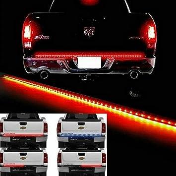 2-Row Truck Tailgate LED Light Bar Strip for Chevrolet Silverado 1500 2500 3500