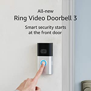 All-new Ring Video Doorbell 3 – enhanced wifi, improved motion detection, removable battery pack, interchangeable faceplates, easy installation