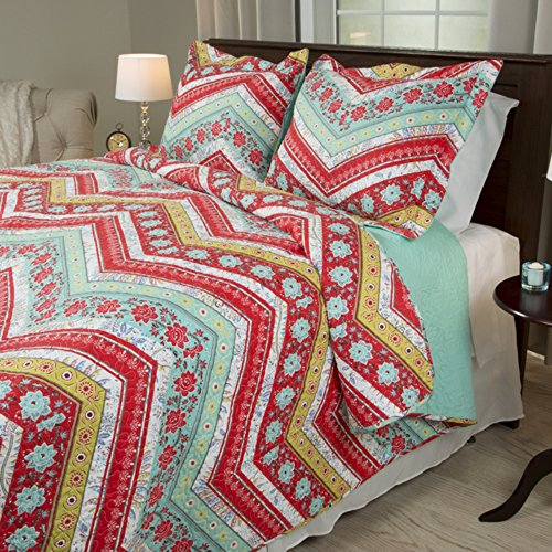 red and white chevron quilt - 6