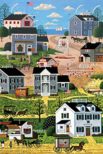 - Town & Country Panel by Charles Wysocki from Northcott 100% Cotton Quilt Fabric 21977 44