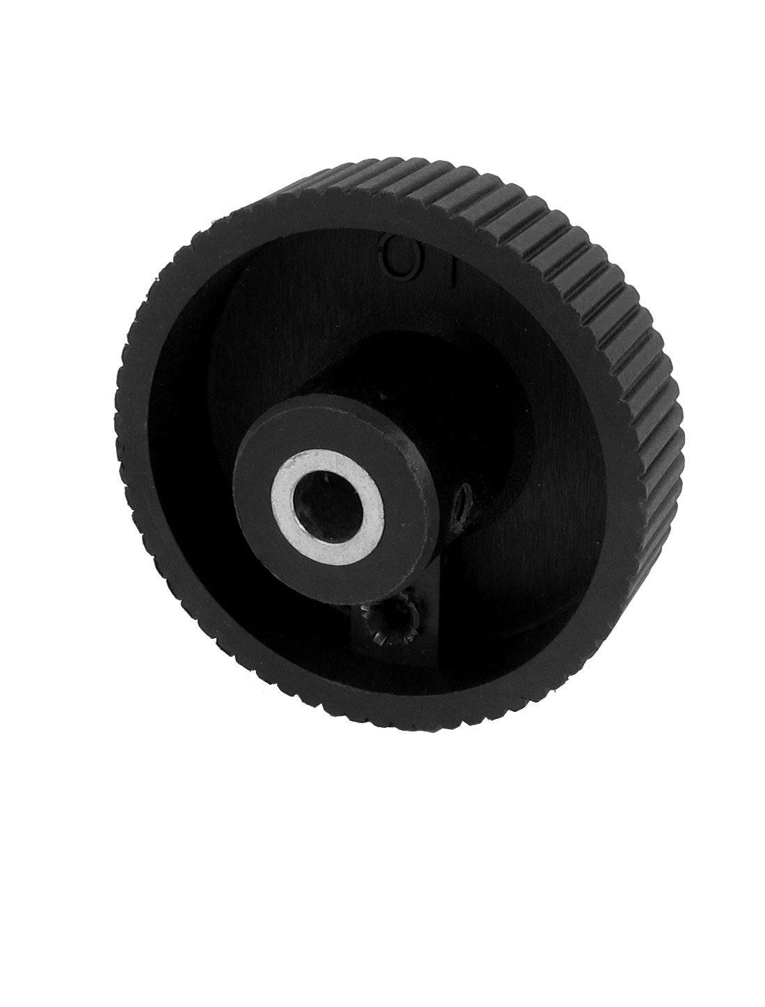 sourcingmap/® 8 mm Bohren Dmr Plastik Hand Rad Drehen Griff Knopf Schwarz 62mm Durchmesser de