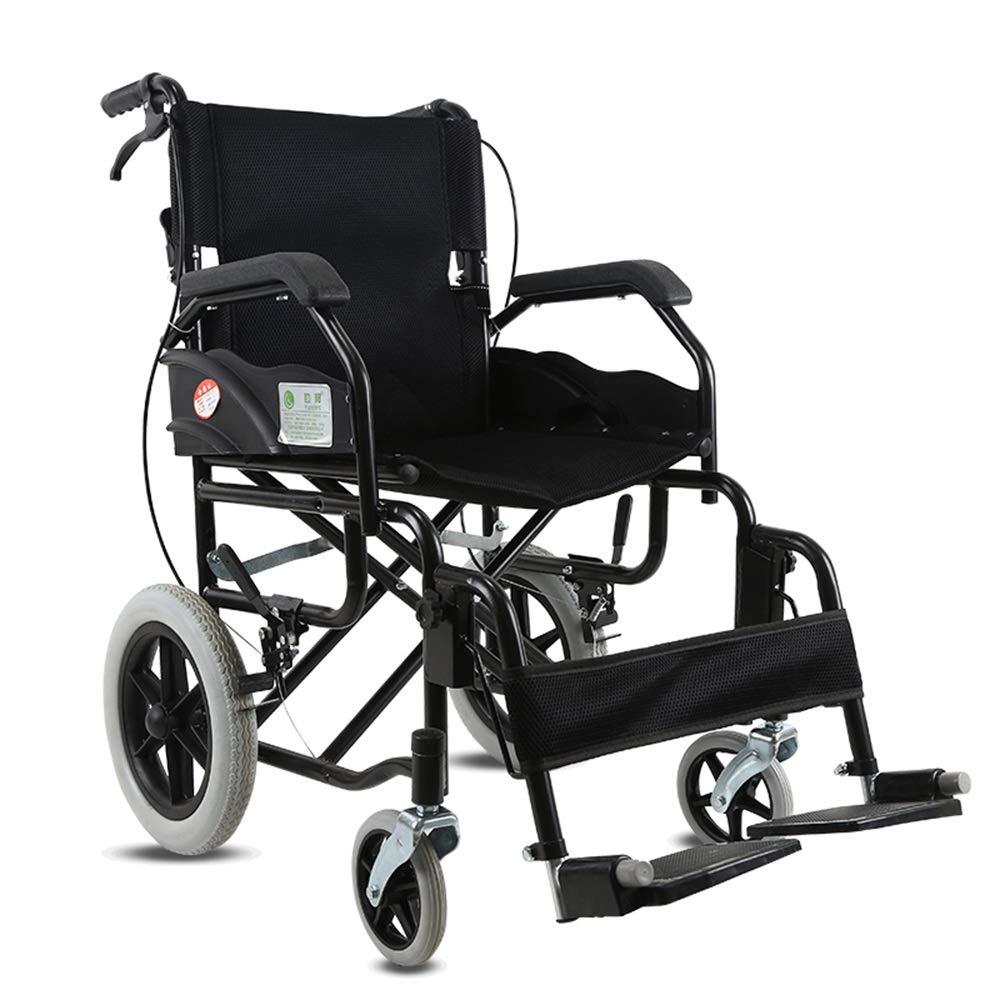 激安特価  FEIFEI 黒 車いす折り畳み式ポータブル超軽量旅行高齢者の大人の車椅子 B07GVKFQ9W (色 黒) : 黒) 黒 B07GVKFQ9W, ブリスエレファントカフェテリア:88d0e3c3 --- a0267596.xsph.ru