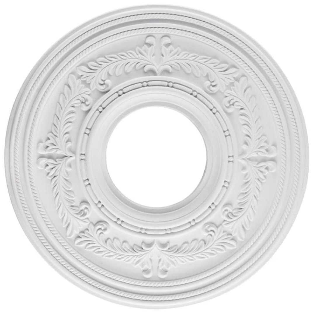 Westinghouse 7771400 12-Inch White Finish Berona Ceiling Medallion