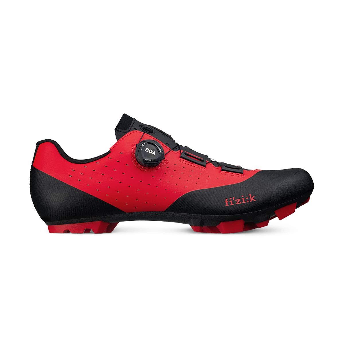 Fizik(フィジーク) Vento Overcurve X3 Cycling Shoes - Red/Black 42.5  B07HYVJ6PV